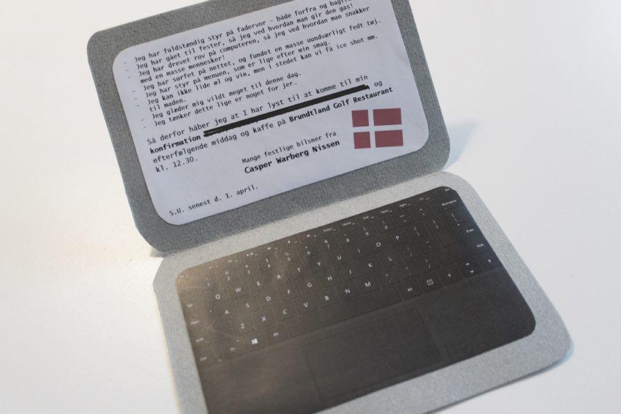 Indbydelse konfirmation tablet
