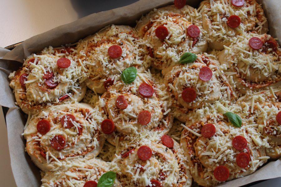 Opskift på lækre svampede pizzasnegle