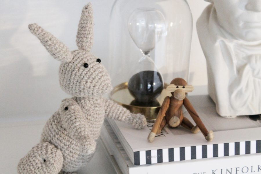 En sød hæklet kb kanin... opskrift