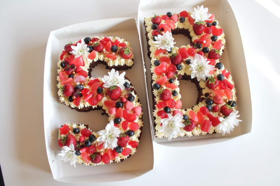 Bogstavkager - chokoladekage