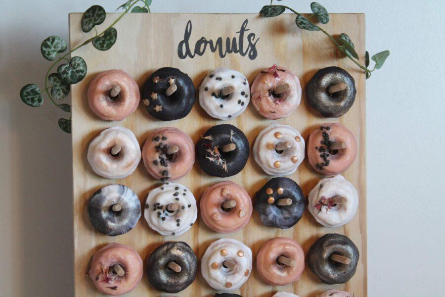 Mini donut med glimmer