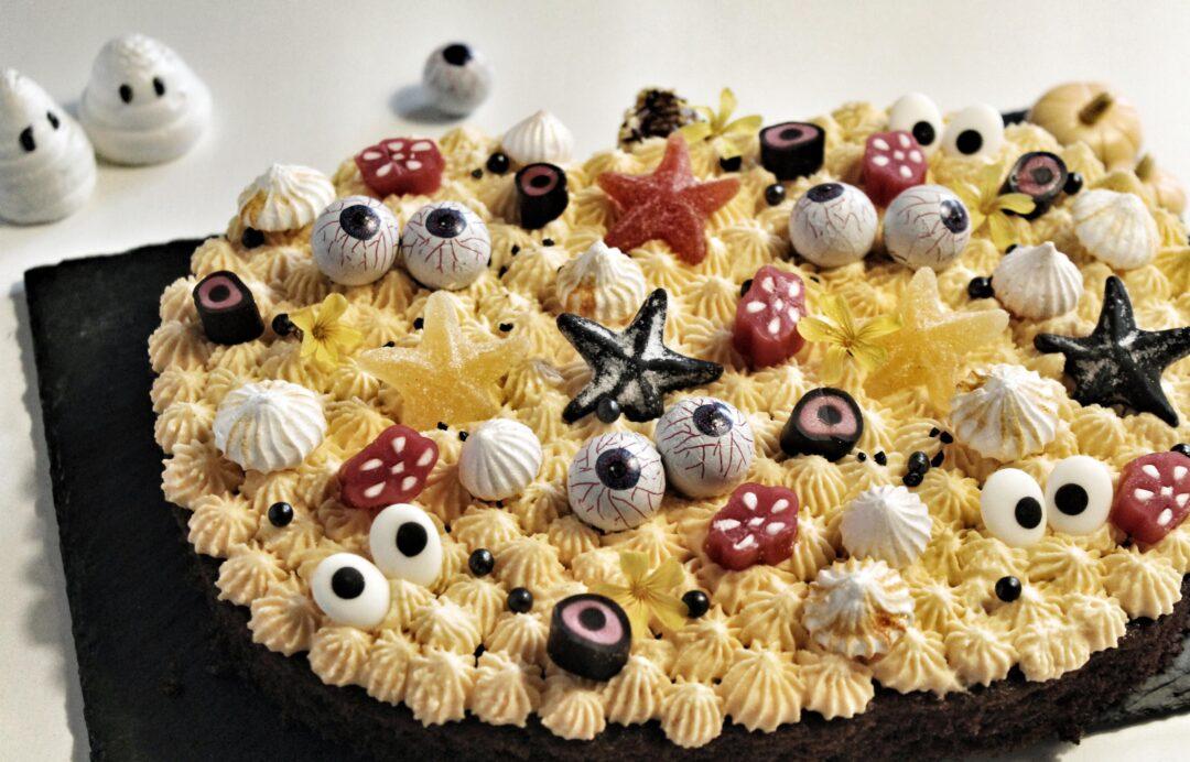Lækker Halloween chokoladekage