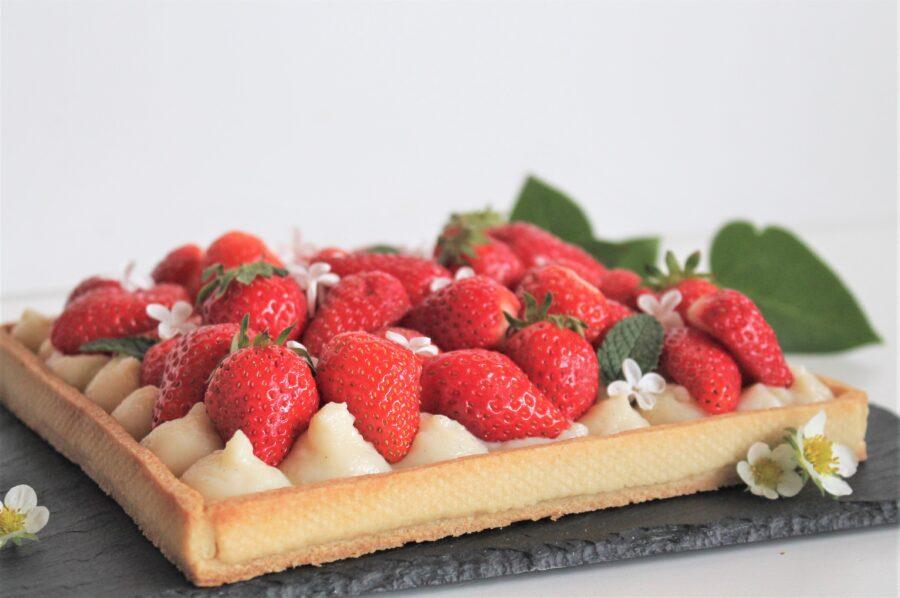 Jordbærtærte - i en sundere udgave...
