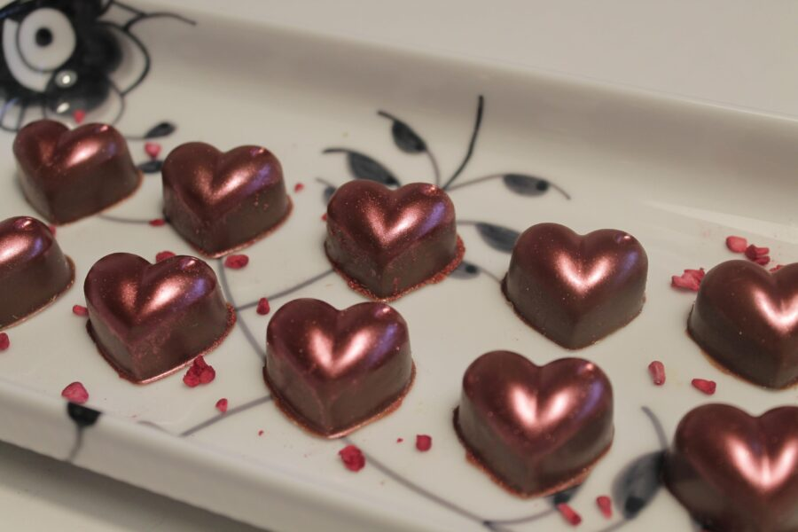 Fyldte chokolader og sukkerchok