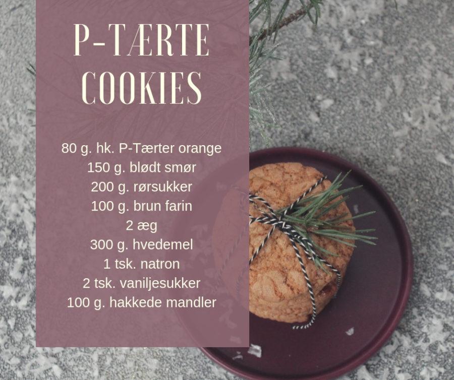 cookies med p-tærter opskrift