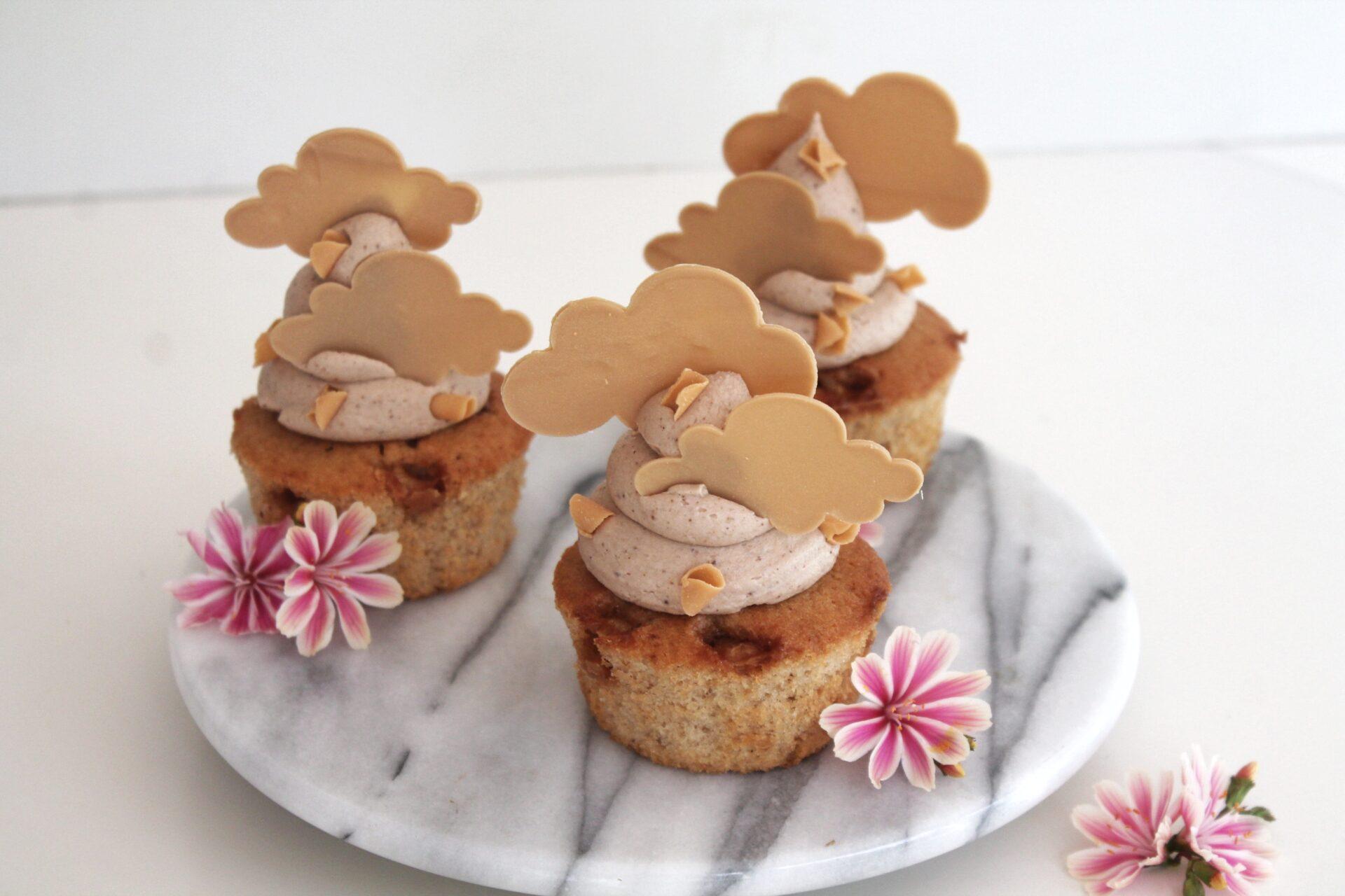 Karamel flødeskums mix i en muffin
